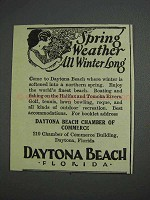1925 Daytona Beach Florida Ad - Spring Weather