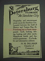 1925 St. Petersburg Florida Ad - Sunshine City