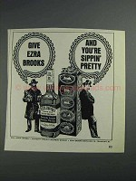 1968 Ezra Brooks Bourbon Ad - You're Sippin' Pretty