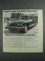 1968 Citroen DS-21 Pallas Ad - Feel of Europe