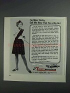 1968 Thrifty Rent-A-Car Ad - Now That I'm a Big Girl
