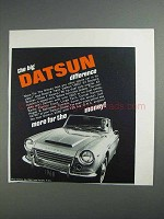 1968 Datsun 1600 Car Ad - The Big Difference