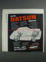 1968 Datsun Car Ad - The Big Difference