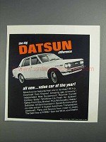 1968 Datsun Car Ad - Value Car of the Year