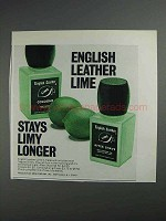 1968 English Leather Lime Cologne and After Shave Ad