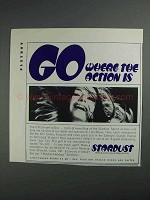 1968 Stardust Hotel Ad - Where the Action Is