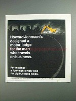 1968 Howard Johnson's Motor Lodge Ad - On Business