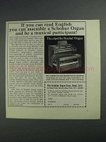 1968 Schober Recital Organ Ad - You Can Assemble