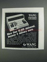 1968 Wang Elecronic Calculator Ad - 10,000 Delivered