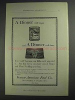 1892 Franco-American Soup and Royal Plum Pudding Ad