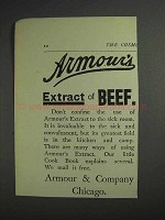 1892 Armour & Company Ad - Extract of Beef