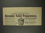 1892 Harriet Hubbard Ayer Recamier Preparations Ad
