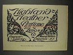 1892 Zeno & Co. Highland Heather Perfume Ad