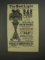 1892 Bradley & Hubbard Lamp Ad - The Best Light