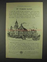 1893 Libbey Glass Co. Ad - It Takes Sand