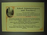 1932 State University of Iowa Ad, School Administrators
