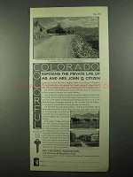1931 Colorado Tourism Ad - Mr. Mrs. John Q. Citizen