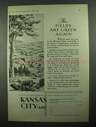 1931 Kansas City MO Ad - Fields Are Green Again