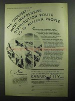 1931 Kansas City MO Ad - Shortest Distribution Route