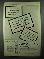 1931 Kansas City MO Ad - Distributing Economies Vital