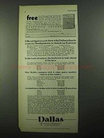 1931 Dallas Texas Ad - Official Figures Show Why