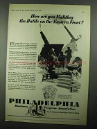 1931 Philadelphia Pennsylvania Ad - On Eastern Front