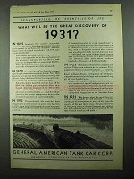 1931 General American Tank Car Ad - The Essentials