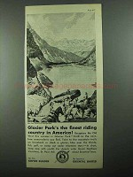 1931 Great Northern Railroad Ad - Glacier's Park
