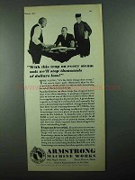 1931 Armstrong Steam Traps Ad - Stop Dollars of Loss
