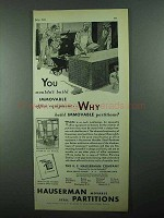 1931 Hauserman Partitions Ad - Wouldn't Build Immovable