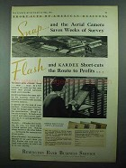 1931 Remington Rand Kardex Ad - Aerial Camera Saves
