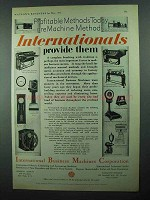 1931 IBM Ad - International Accounting Scale +