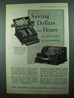 1931 NCR Accounting Machines Ad - Saving Dollars