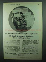 1931 NCR Accounting Machines Ad - Striking Savings