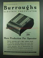 1931 Burroughs Electric Calculator Ad - More Production
