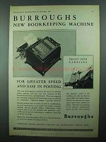 1931 Burroughs Bookkeeping Machine Ad
