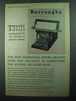 1931 Burroughs Typewriter Accounting Machine Ad