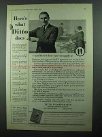 1931 Ditto Copier Ad - Here's What Ditto Does