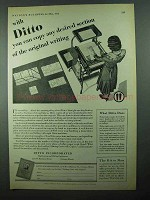 1931 Ditto Copier Ad - Copy Any Desired Section
