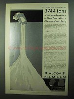 1931 Alcoa Aluminum Ad - 3744 Tons Increased Pay-Load