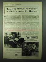 1931 Teletype Corporation Ad - Slashes Inventory Hudson