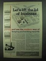 1931 Addressograph Company Ad - Lift Lid of Business