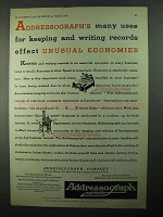 1931 Addressograph Company Ad - Unusual Economies