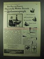 1931 Addressograph Company Ad - Save Time and Expense