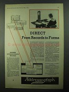 1931 Addressograph Company Ad - From Records to Forms