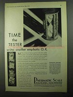 1931 Pneumatic Scale Packaging Machinery Ad - Time