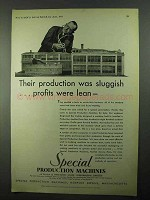 1931 Pneumatic Scale Special Production Machines Ad - Sluggish