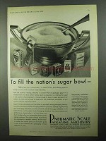 1931 Pneumatic Scale Packaging Machinery Ad - Sugar