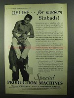 1931 Pneumatic Scale Special Production Machines Ad - Relief