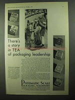 1931 Pneumatic Scale Packaging Machinery Ad - Tea
